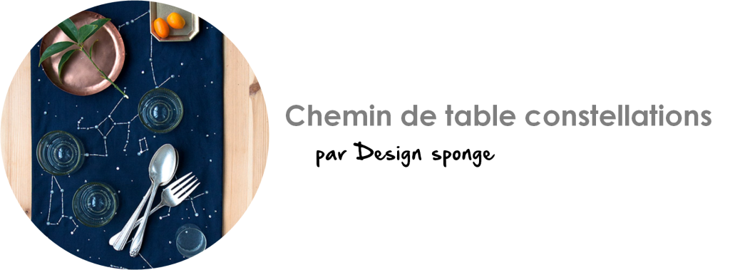 Chemin de table constellations par Design sponge