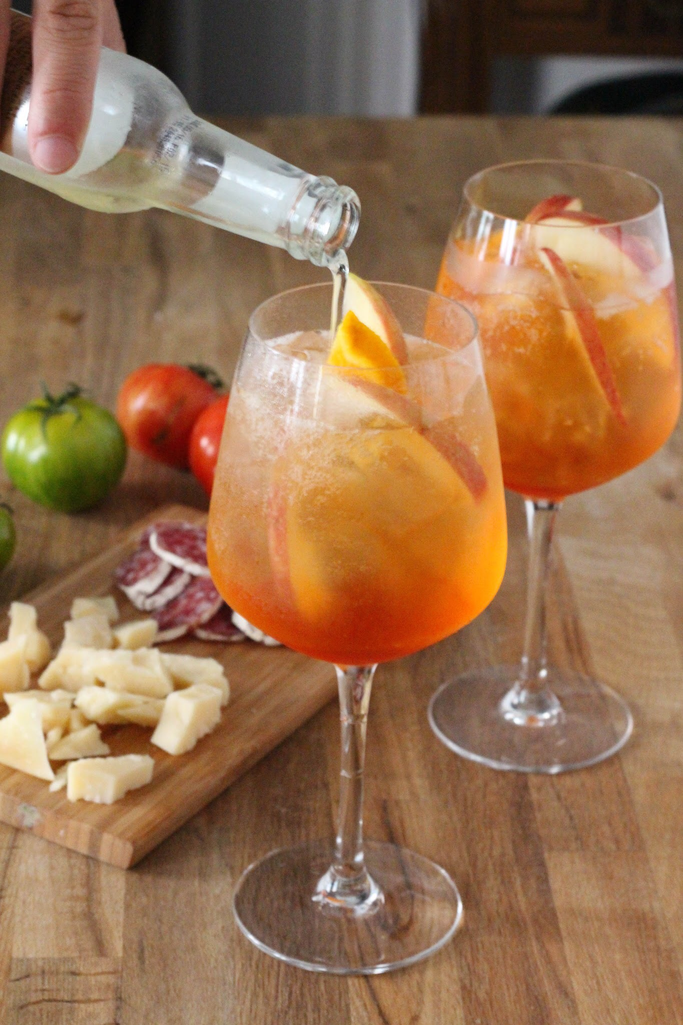 Cocktail a base de calvados et d aperol