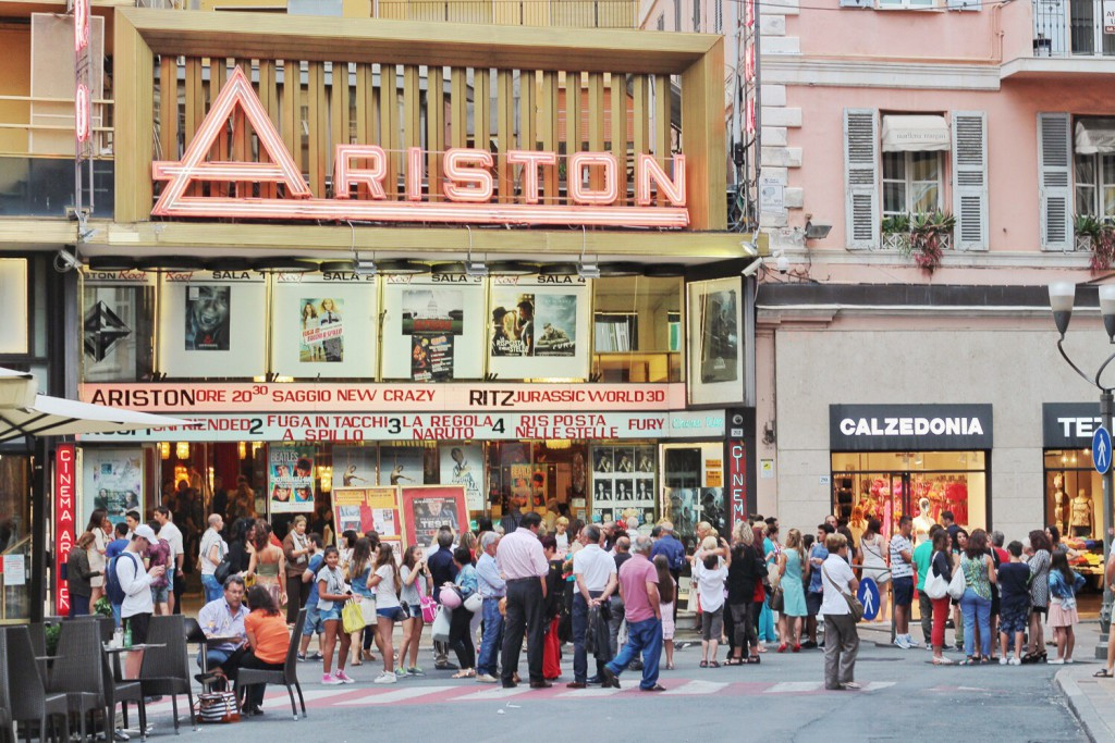 Le theatre Ariston a San Remo