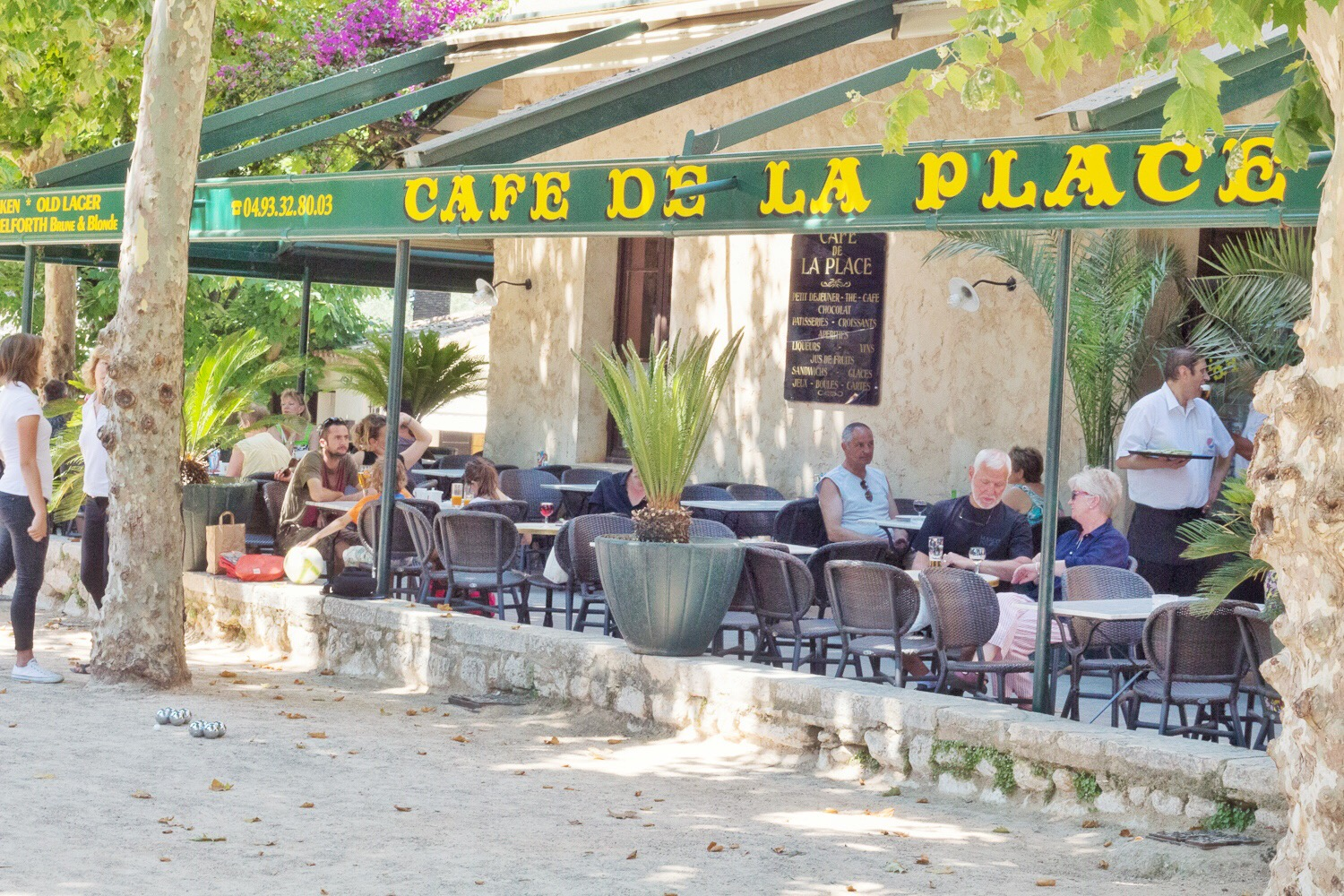 Cafe de la place a Saint Paul de Vence