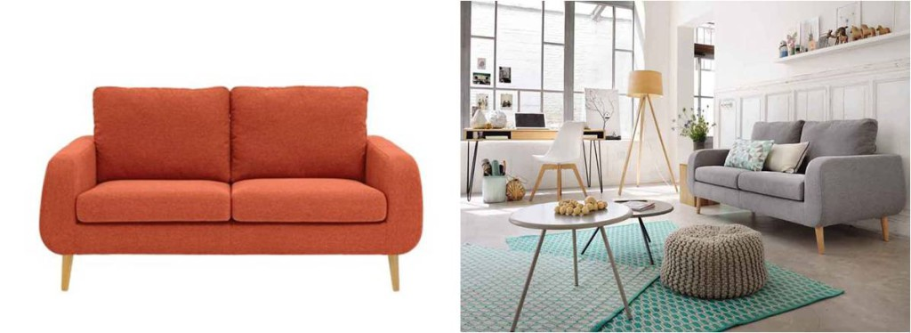 Mes dernieres lubies Canape scandinave Fly Sixties orange