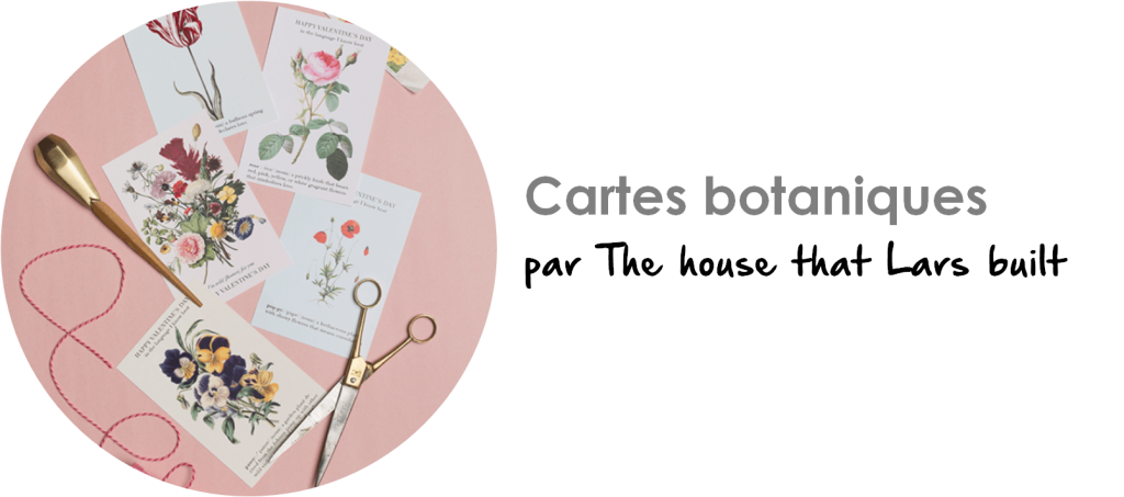Carte de Saint-Valentin botanique par The House that Lars built