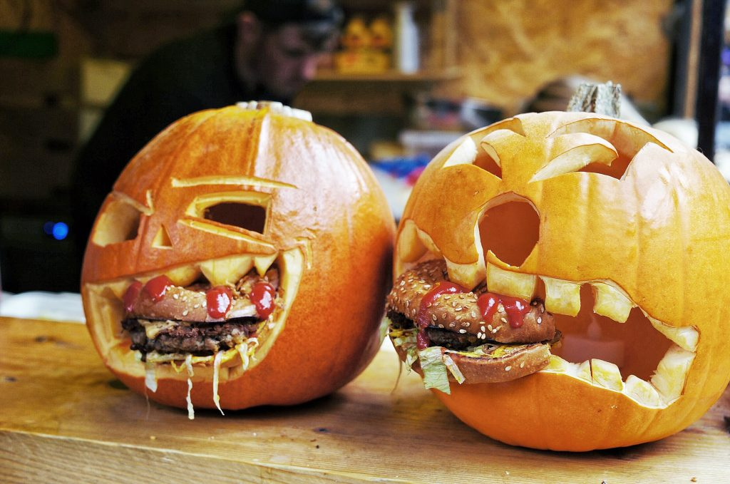 Camden-town-street-food-burger-pumpkin