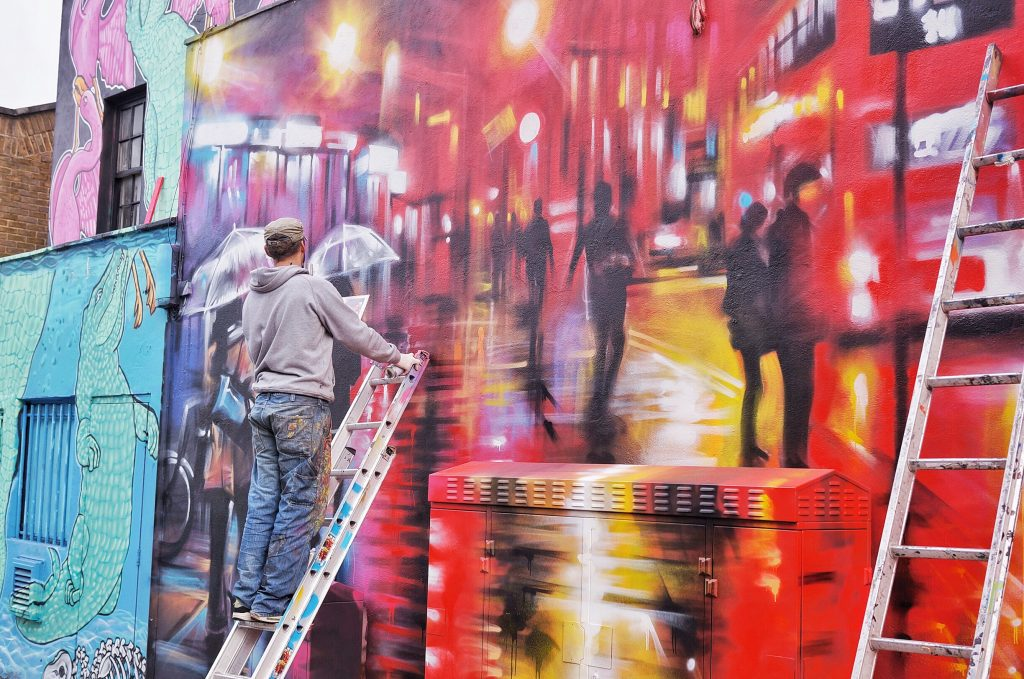 Camden-Town-Londres-street-art-in-progress